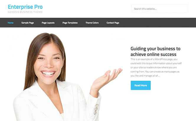 enterprise-pro wordpress theme for enterprise