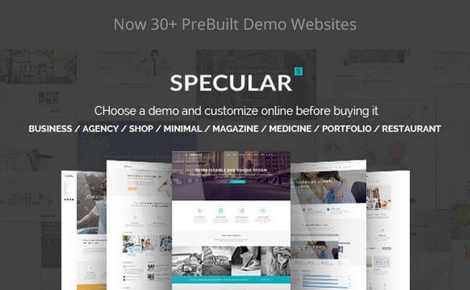 specular wordpress business theme