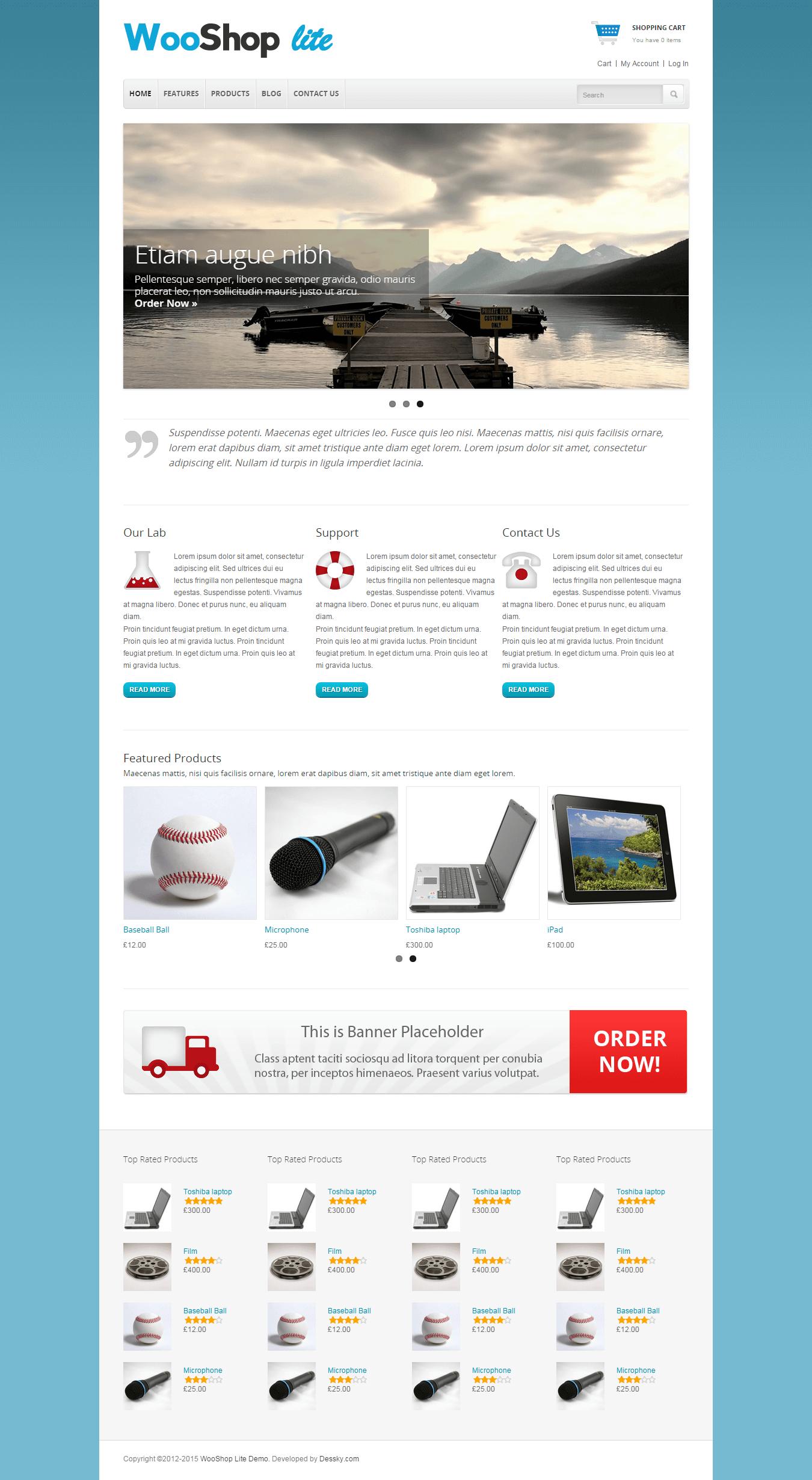 WooShop eCommerce WordPress theme