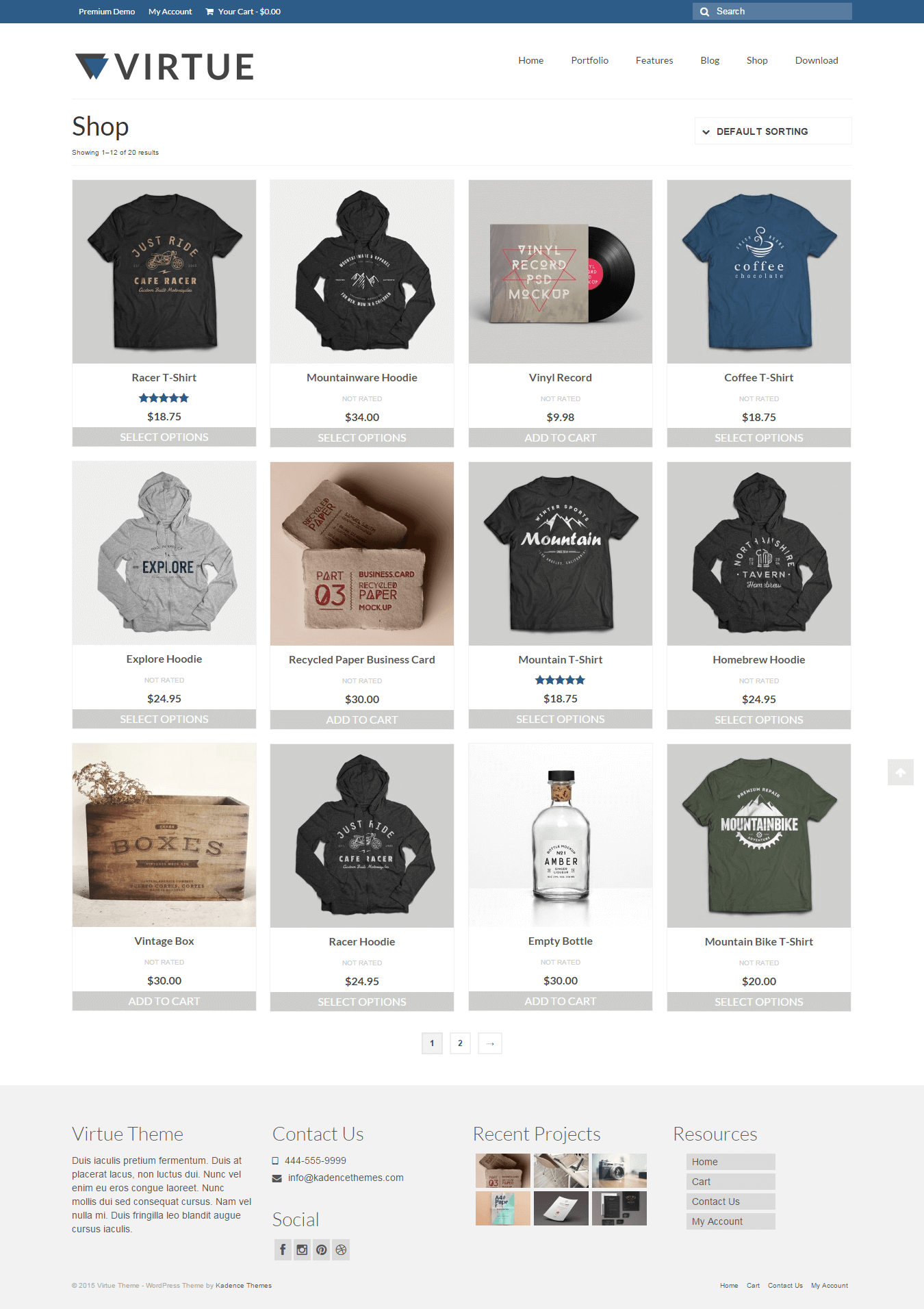 Virtue eCommerce WordPress theme