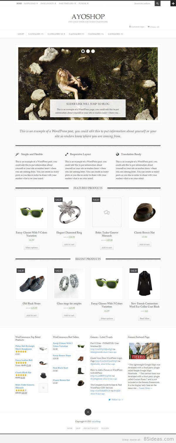 AyoShop eCommerce WordPress theme