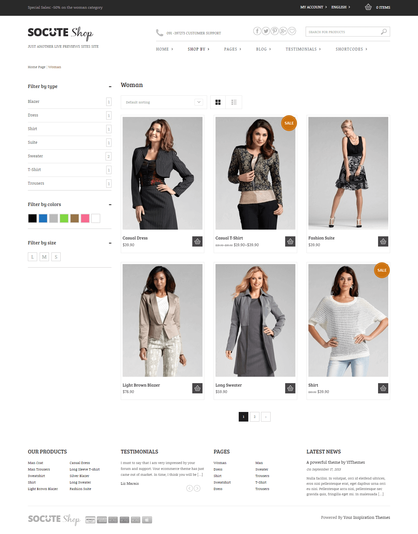 Socute eCommerce WordPress theme