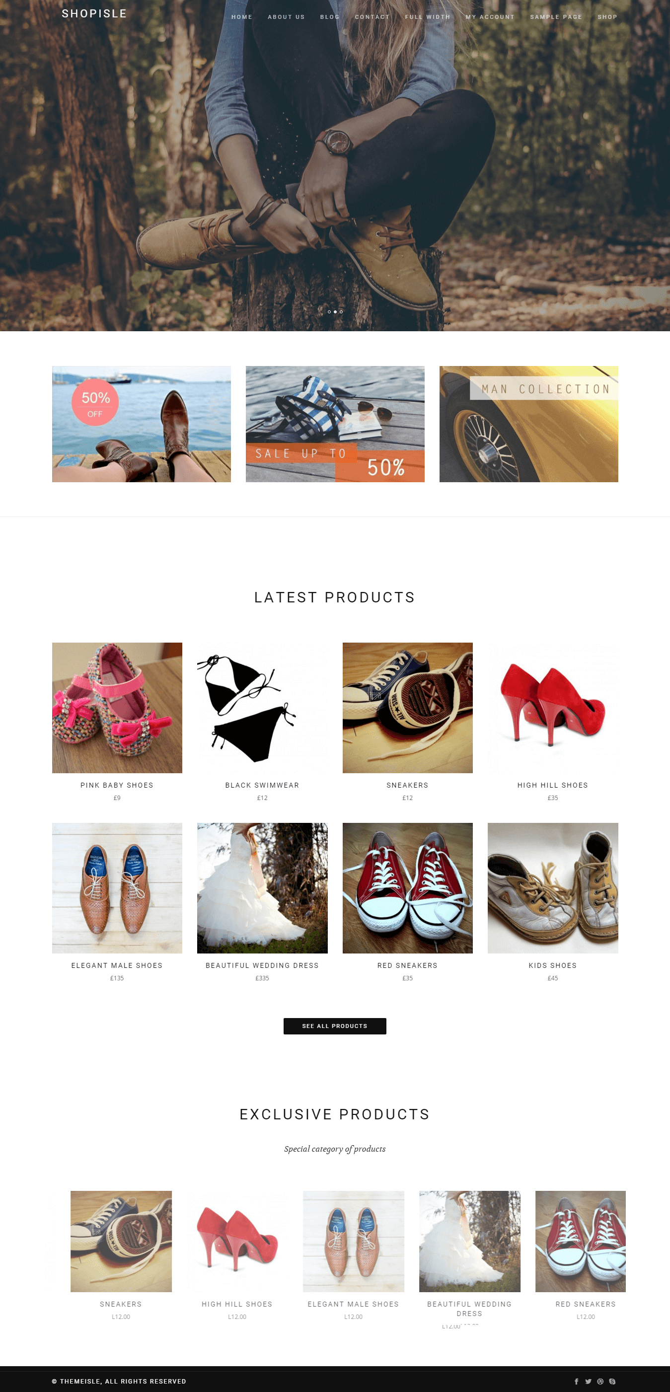 Shopisle eCommerce WordPress theme