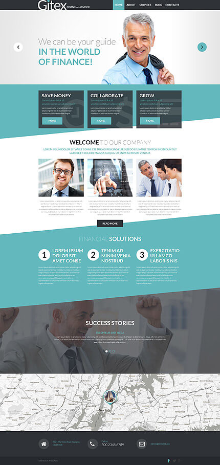Financial Advisor WP Template