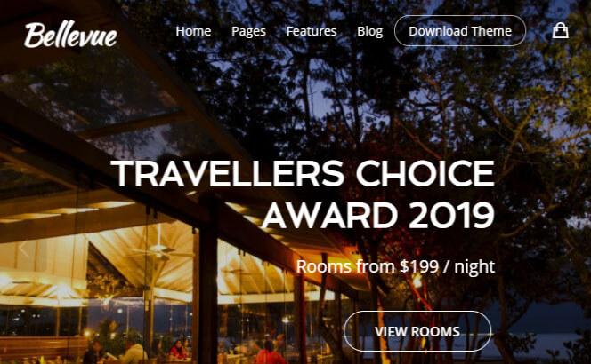 bellevue hotel and bnb wordpress theme