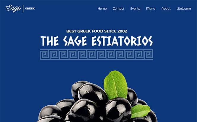 sage restaurant cafe wordpress theme