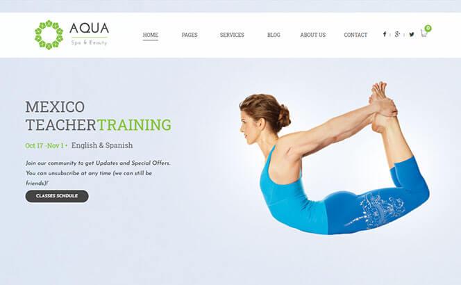 aqua spa beauty wordpress theme
