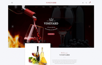 Vineyard - Wine Store WordPress WooCommerce theme