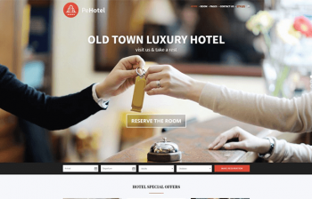 Business Hotel and Restaurant WordPress theme
