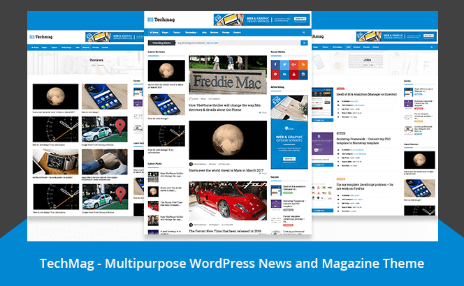 TechMag - News and Magazine WordPress Multipurpose theme