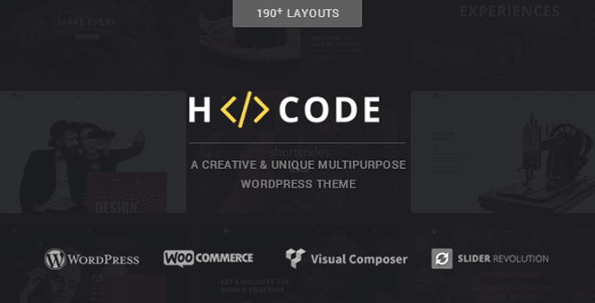 H-Code - An advanced and elegant WordPress theme
