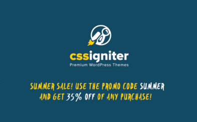 CSSIgniter Flash Summer Sale: 35% Discount on WP Themes