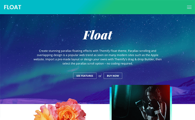 Themify Float - Parallax and Floating theme for WordPress