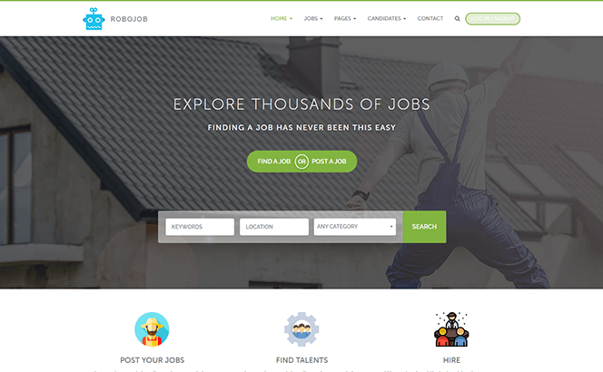 Robojob - job Board, Listing WooCommerce WordPress theme