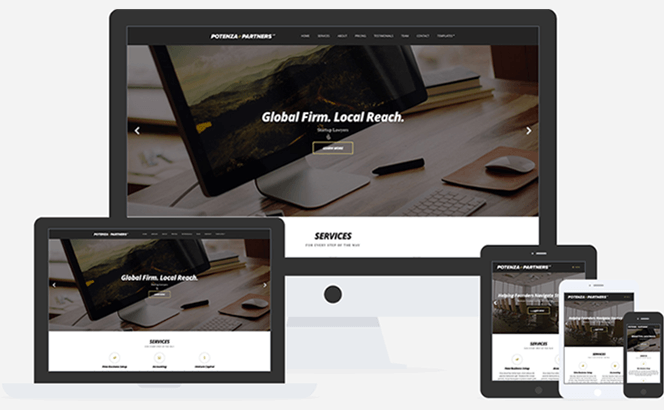 Potenza One Page Business WordPress theme