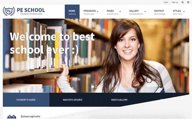 PE School Education WordPress theme