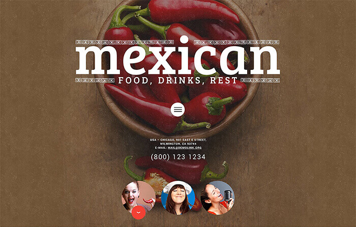 Mexican Food WordPress Theme
