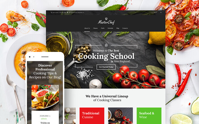 Cooking School WordPress Theme