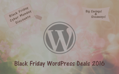 WordPress Deals for Black Friday and Cyber Monday 2016 (and Giveaways)