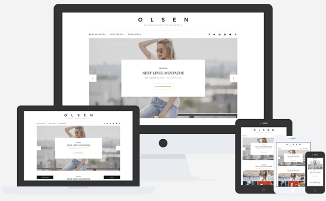 Olsen WordPress theme for Bloggers and Content Writers