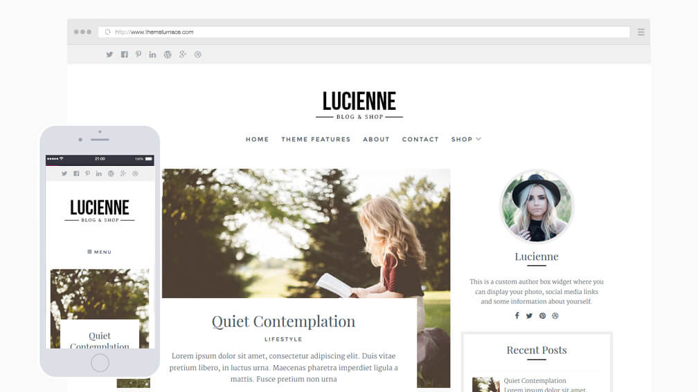 Lucienne Elegant Blog and Shop Theme
