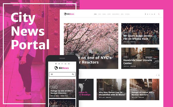 BitNews - Blog Magazine & News Portal WordPress Theme
