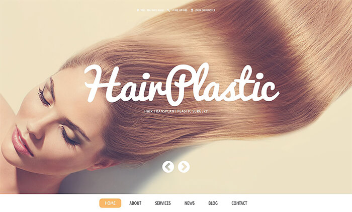 Hair Transplant Clinic WordPress Template