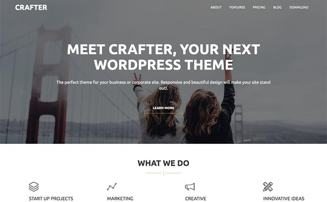 crafter corporate business wordpress theme