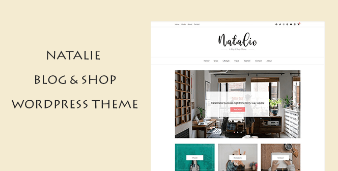 natalie blog shop wordpress theme
