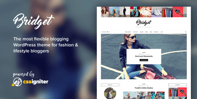 bridget fashion lifestyle wordpress theme
