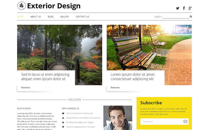 Exterior Design Blog WordPress Theme