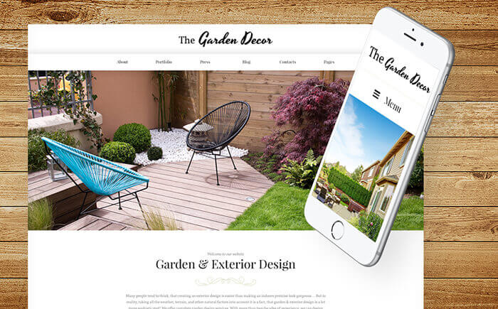 Garden Design WordPress Template