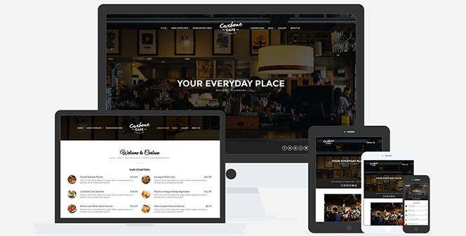 carbone cafe restaurant wordpress theme