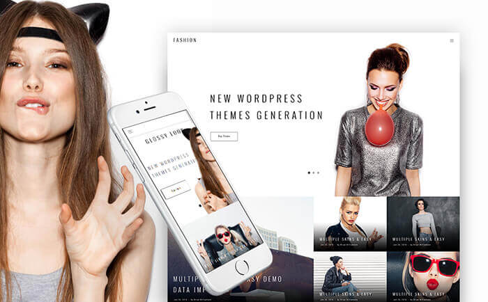 Fashion Blogging WordPress Theme with Trendy Design