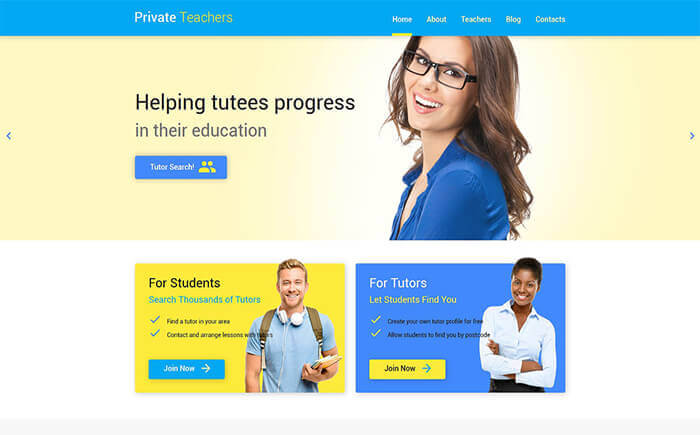 Education Help WordPress Theme