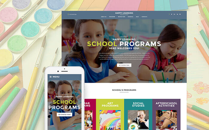 Happy Learning - Primary School WordPress Theme