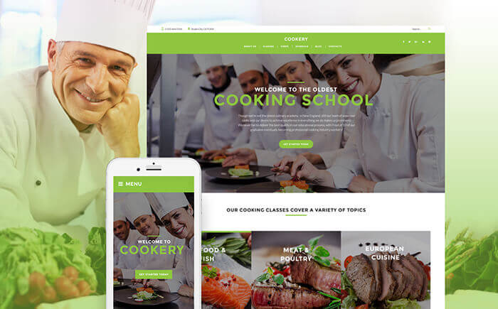 Cooking - Culinary School Responsive WordPress Theme