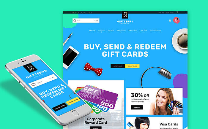 Gift Cards for Any Purpose Prestashop Theme
