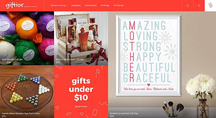 Gifts Store Responsive OpenCart Template
