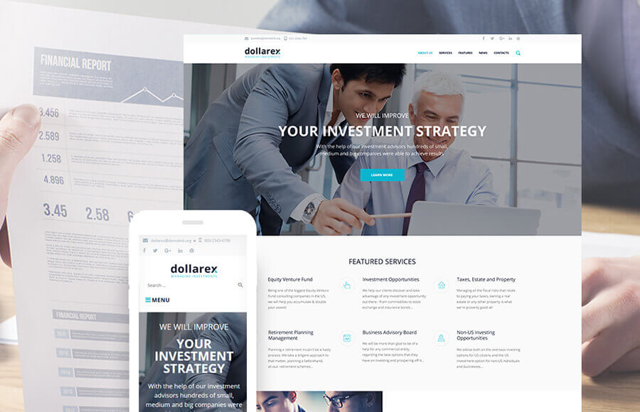 Investment Company WP Theme