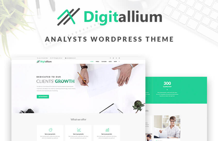 Digitalium - Marketing Agency WordPress Theme