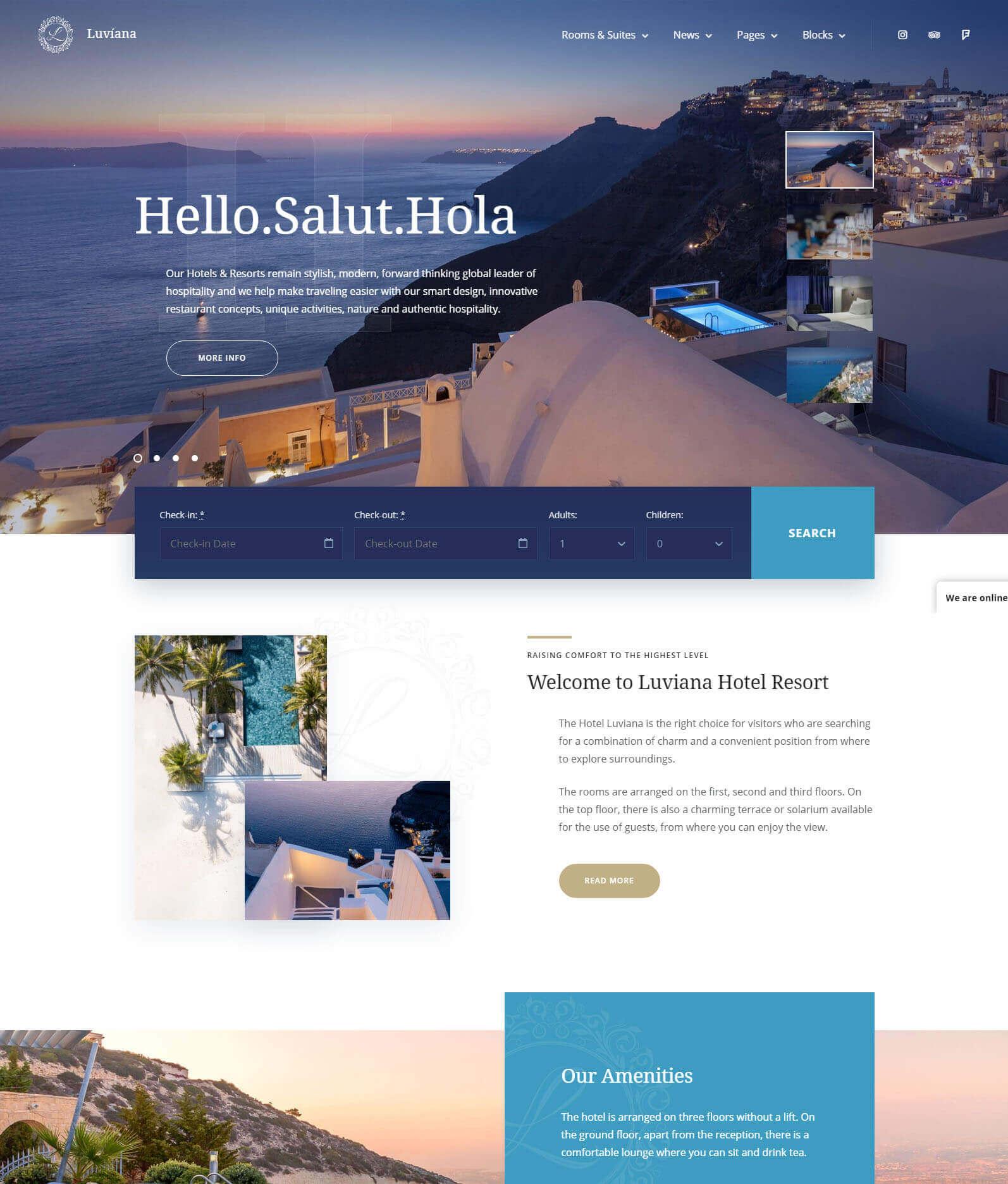 Luviana Hotel Reservation WordPress Theme
