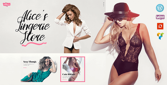 alices lingerie fashion boutique wordpress theme